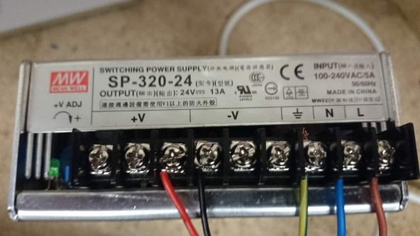 mean well power supply how to connecting